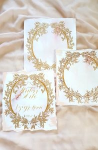 Vienna Renaissance Hand Painted Wedding invitations artwork