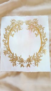 Vienna Renaissance Hand Painted Wedding invitations gold leaves