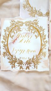 Vienna Renaissance Hand Painted Wedding invitations watercolour