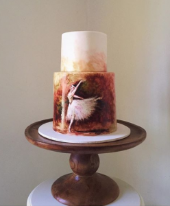 luxury wedding cake designers ballet dancer