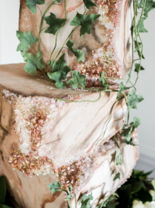 luxury wedding cake designers jewels and leaves