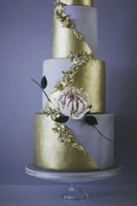 luxury wedding cake designers lilac and gold cake