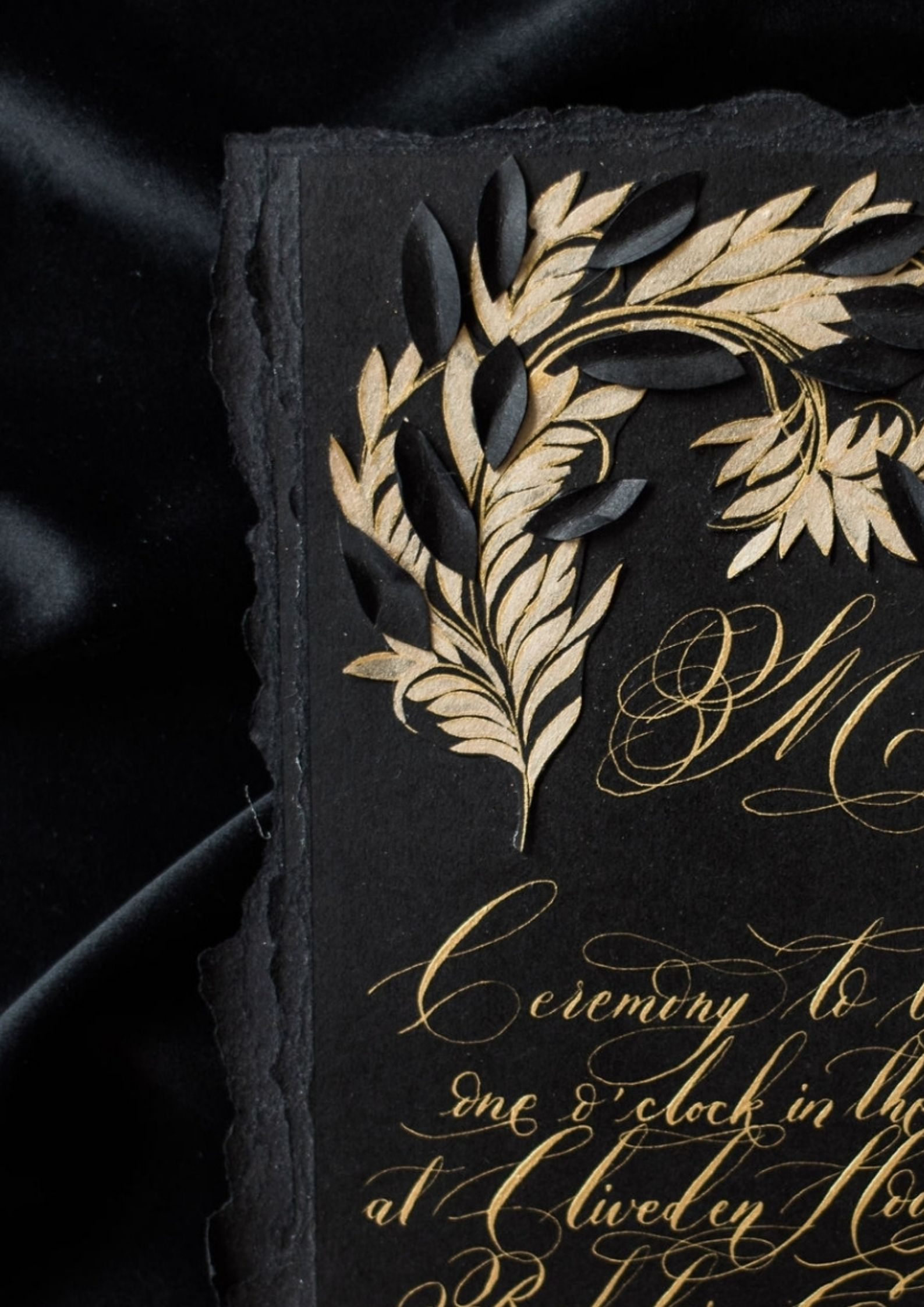 Darker wedding stationery style began to emerge