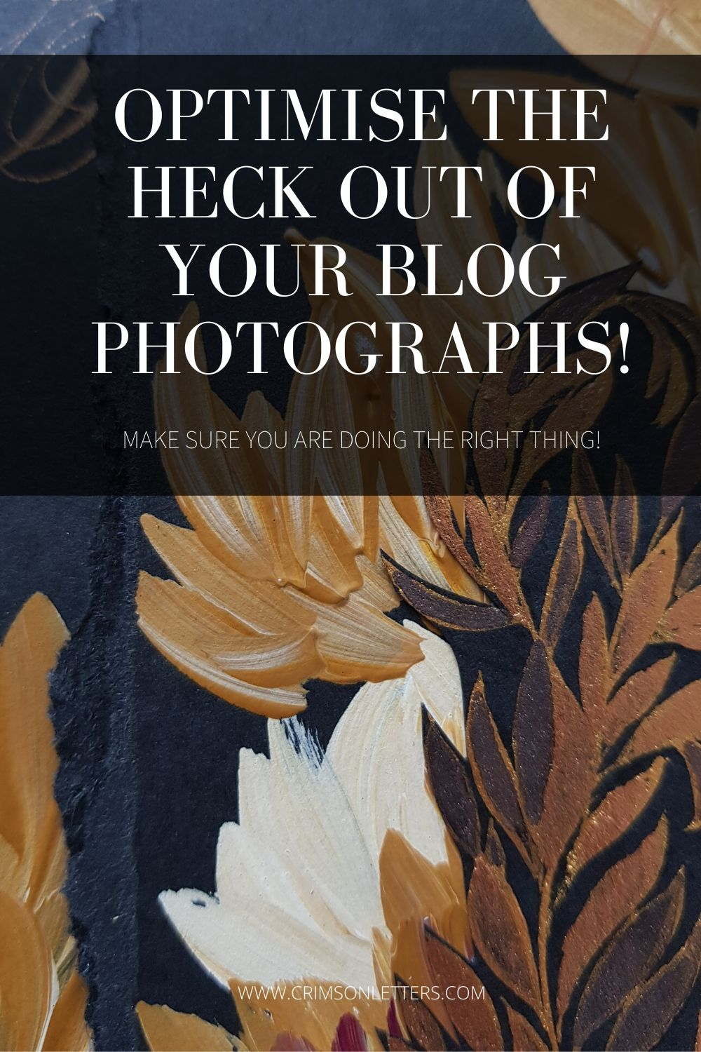 Optimise your photographs for your blog