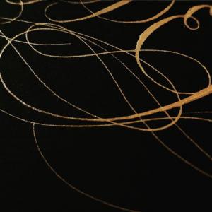 Wedding stationery business gold calligraphy flourishes