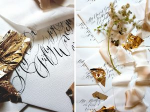 Calligraphy Envelope addressing for custom stationery clients