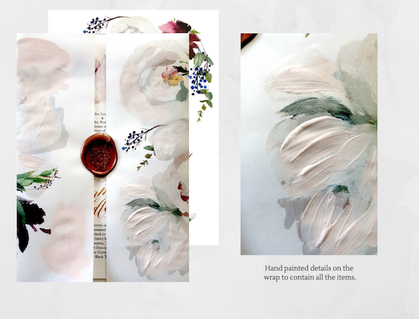 Custom Hand Painted Wedding Invitations- Design Proposal three details