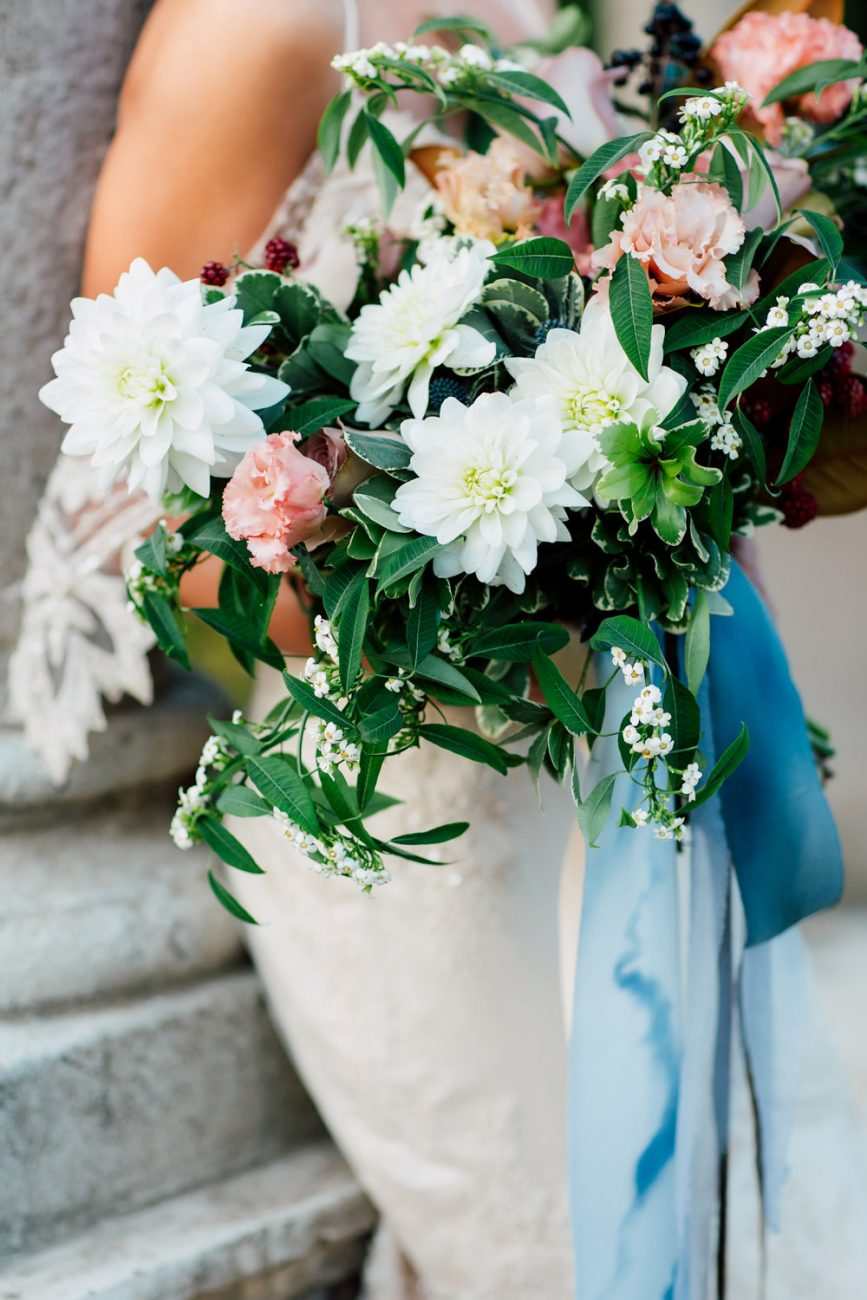 French Wedding Inspiration bouquet close up