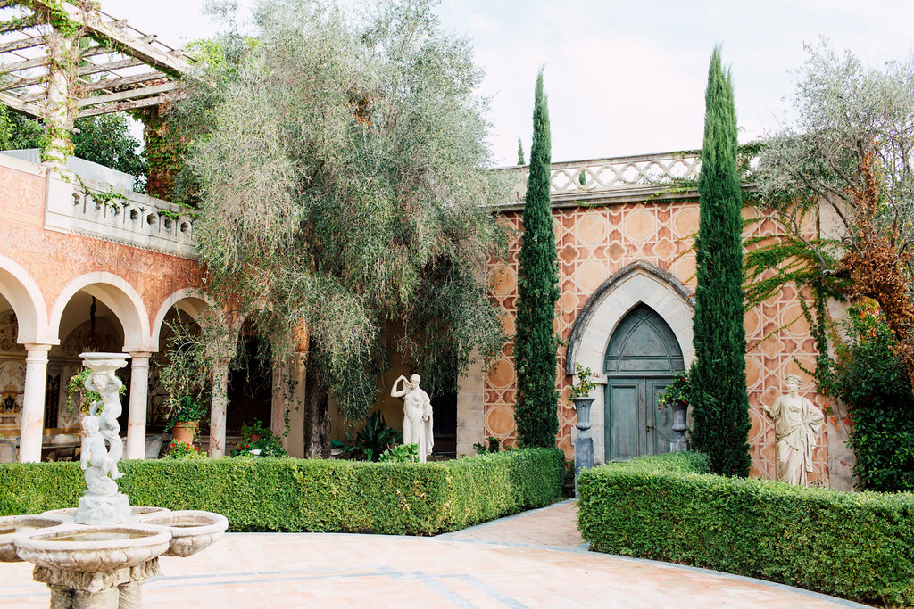 French Wedding Inspiration gardens with trees