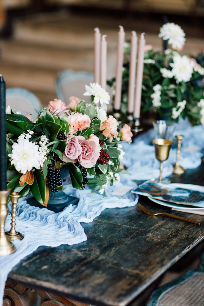 French Wedding Inspiration table setting ideas