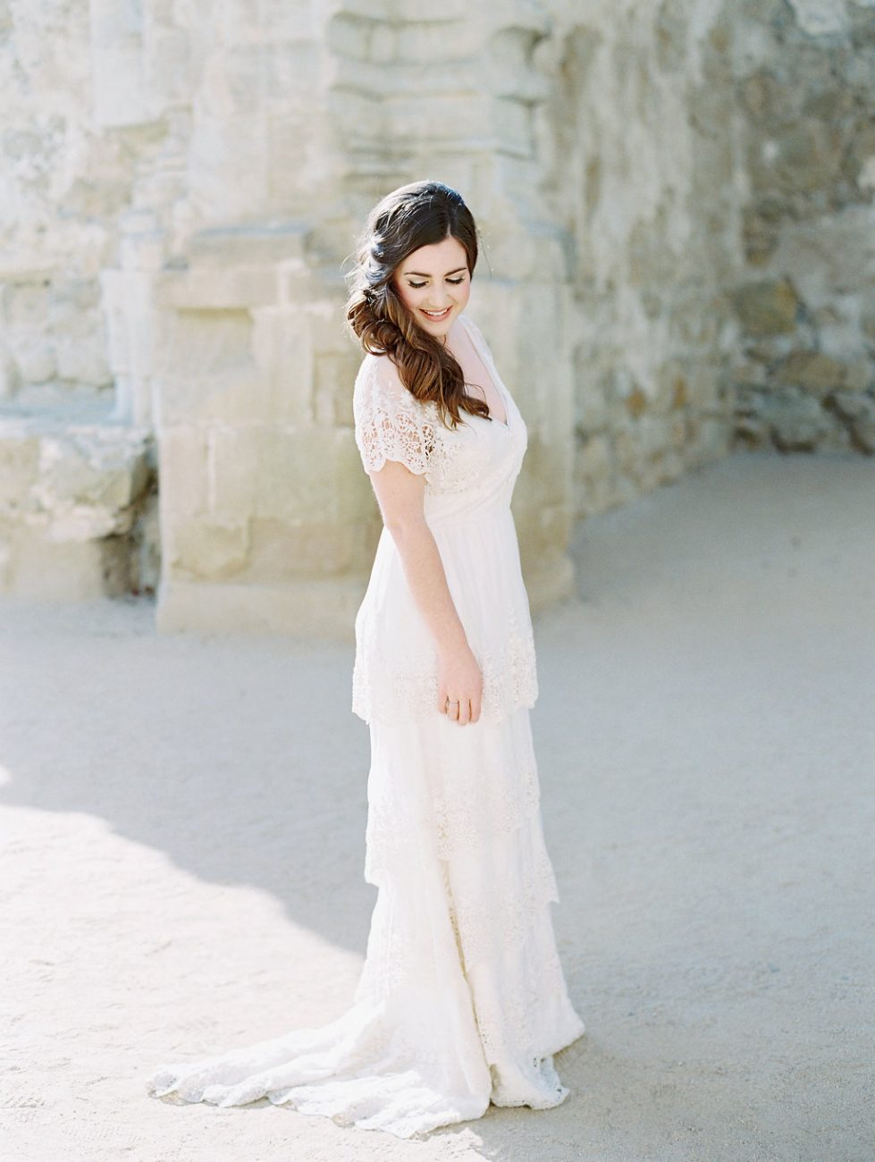 Orange Country wedding inspiration bride with dress