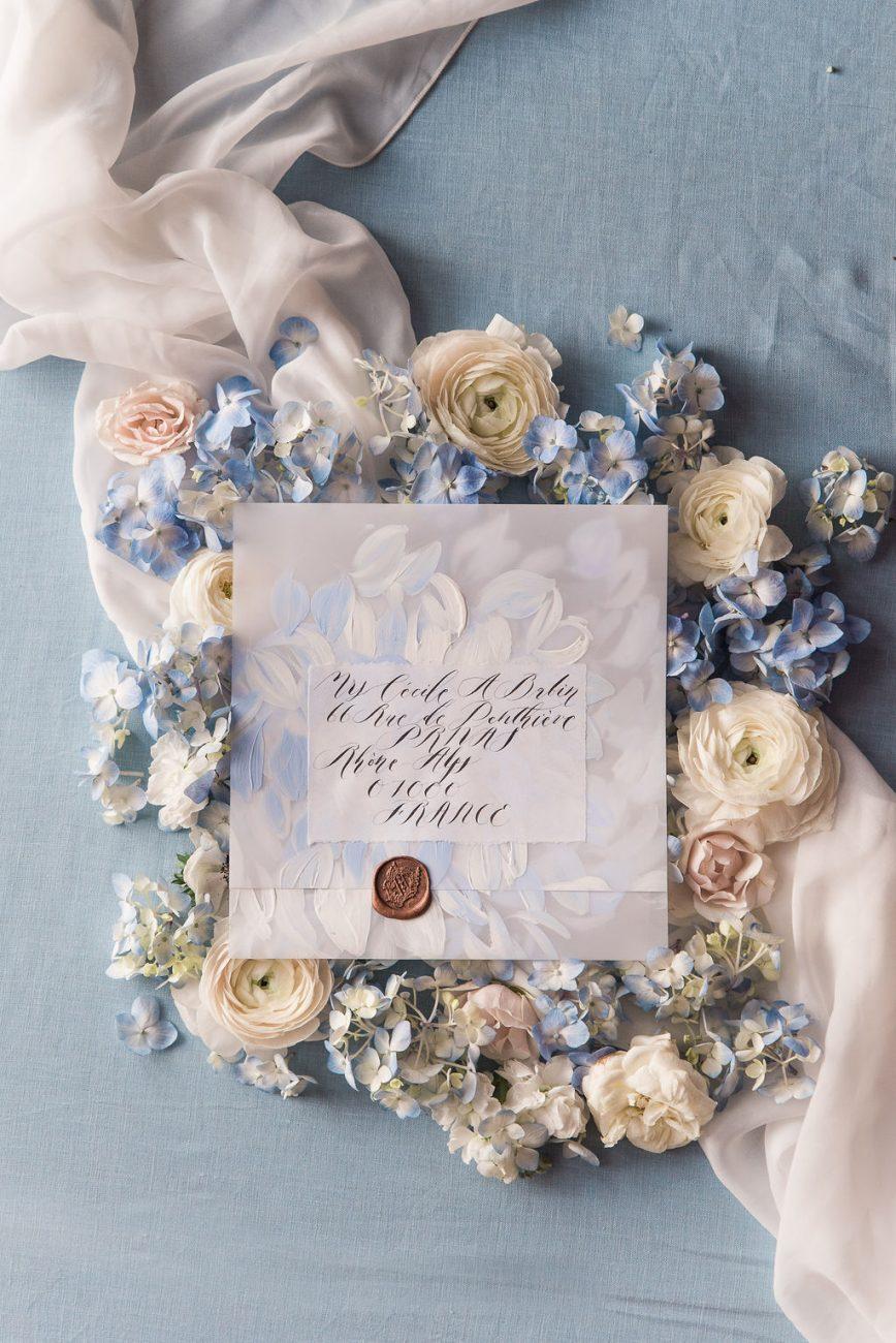 White vellum envelope