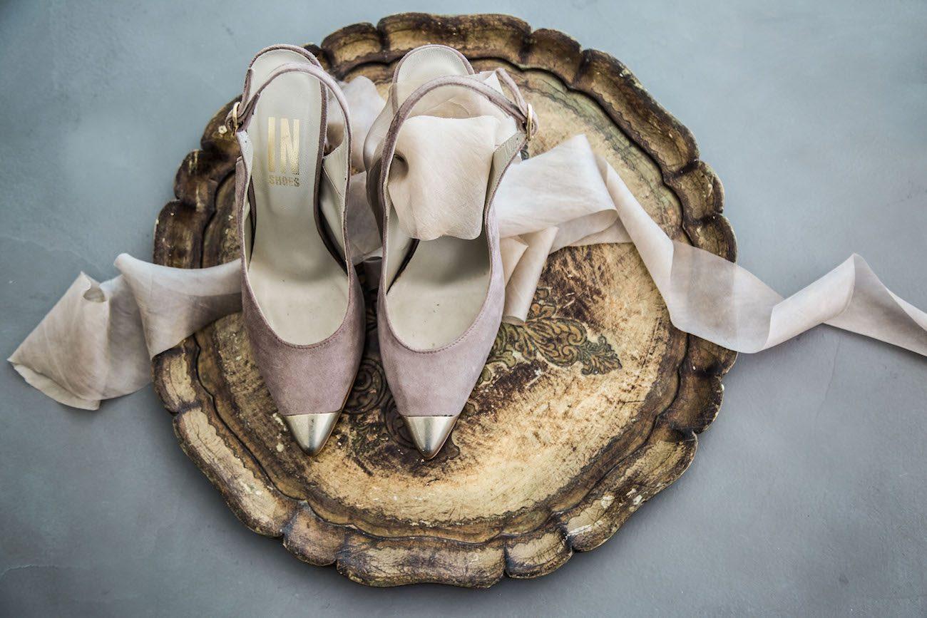 Fine Art Black Tie Wedding Inspiration Shoot pink velvet shoes