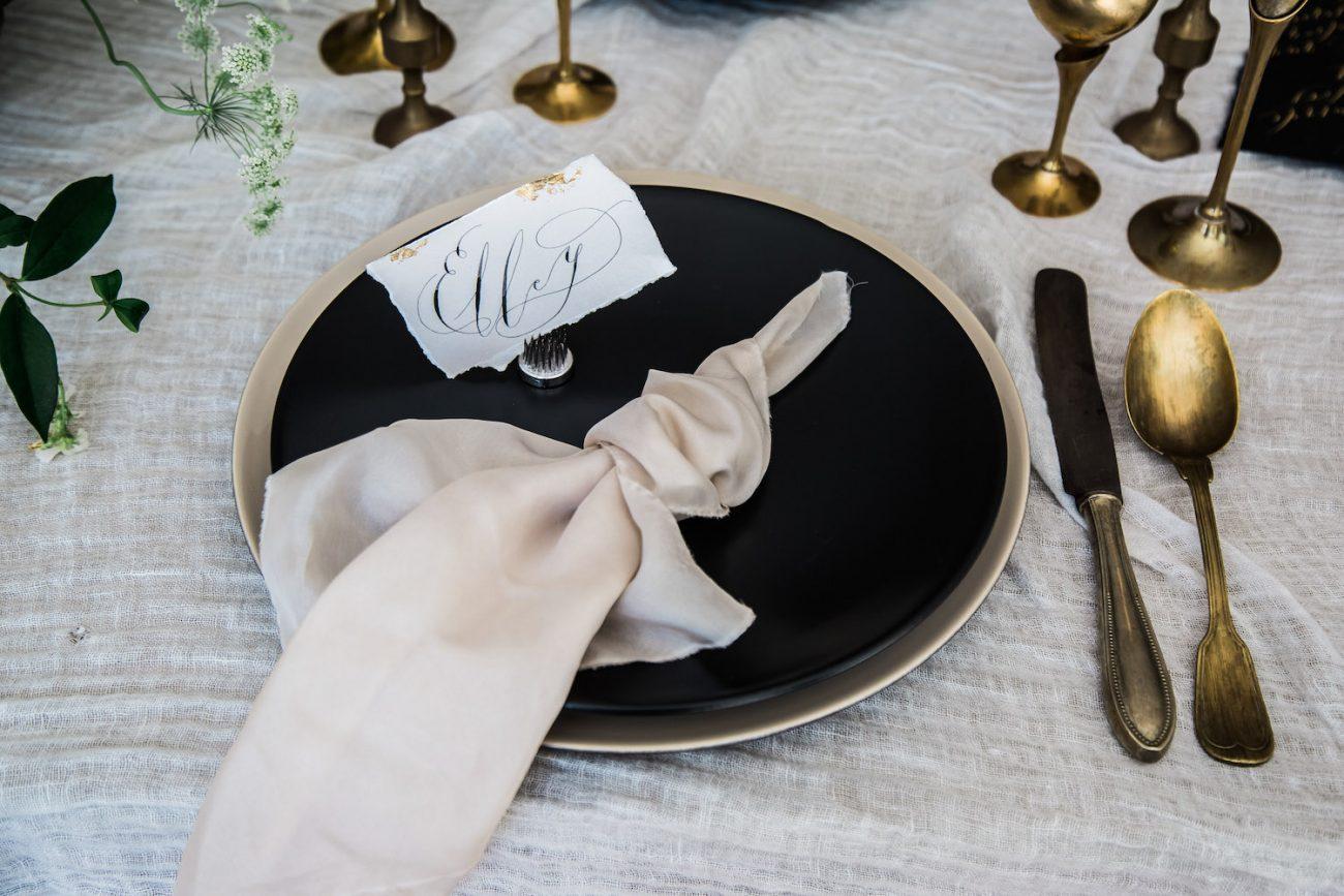 Fine Art Black Tie Wedding Inspiration Shoot place name