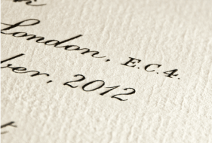 Invitation Glossary Engraving