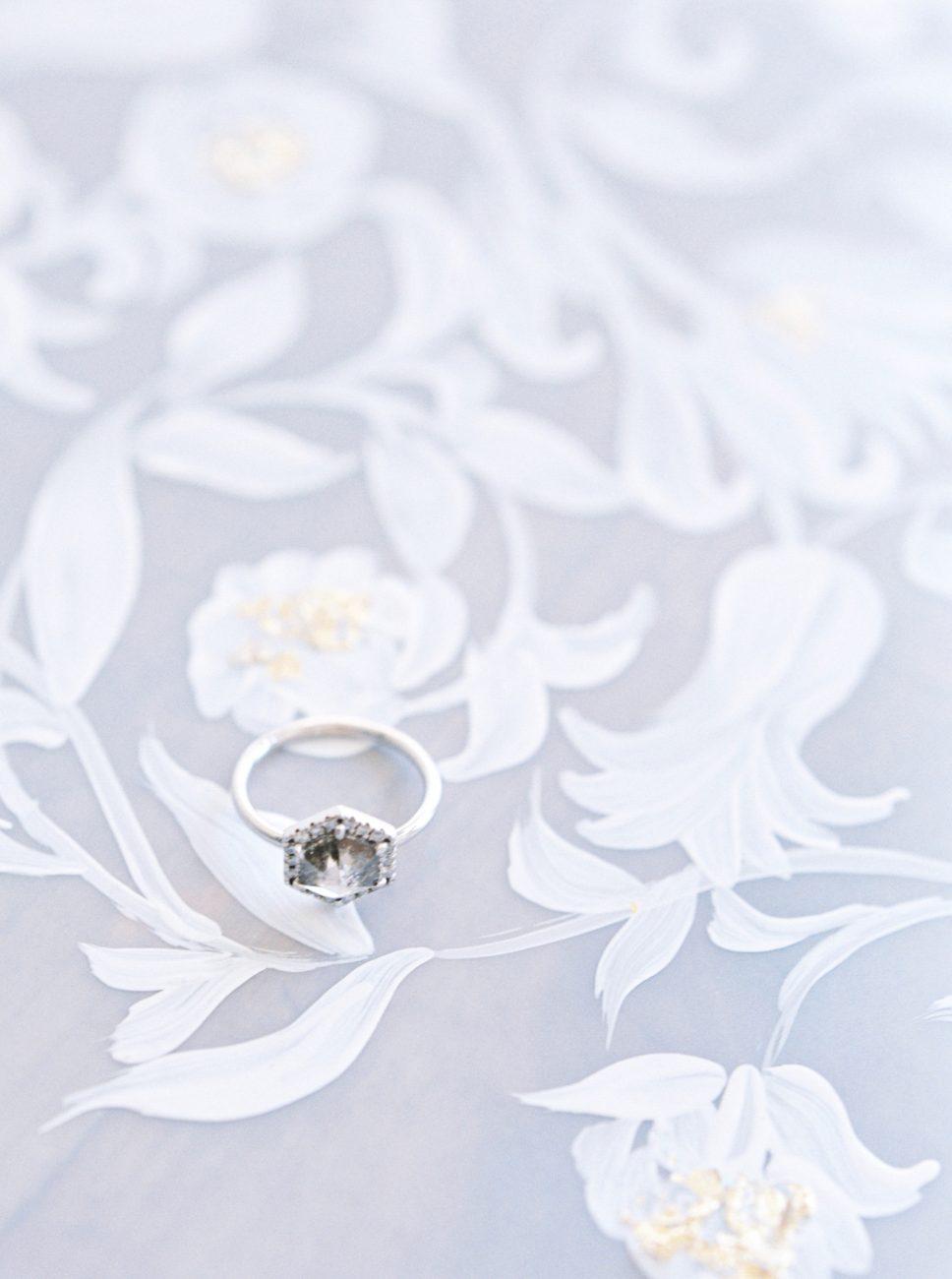 Luxury Hand Painted Wedding Invitations_ white paint on vellum