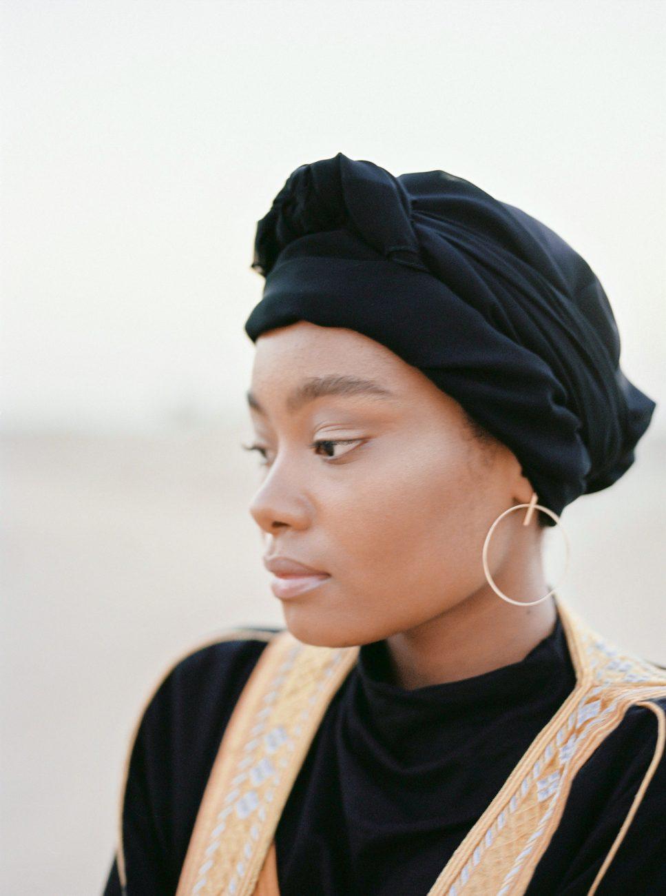 Desert fine art wedding inspiration turban