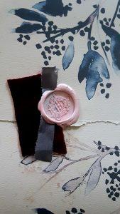 French Style Wedding Invitations blush wax seal
