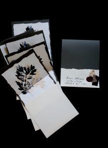 French Style Wedding Invitations burgundy wax seal