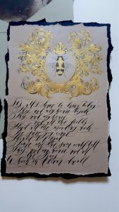 French Style Wedding Invitations poem with french bee design