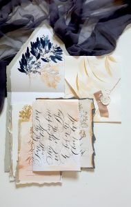 French Style Wedding Invitations with cream tones