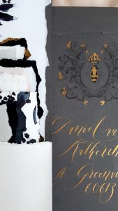 French Style wedding Invitations Envelope close up