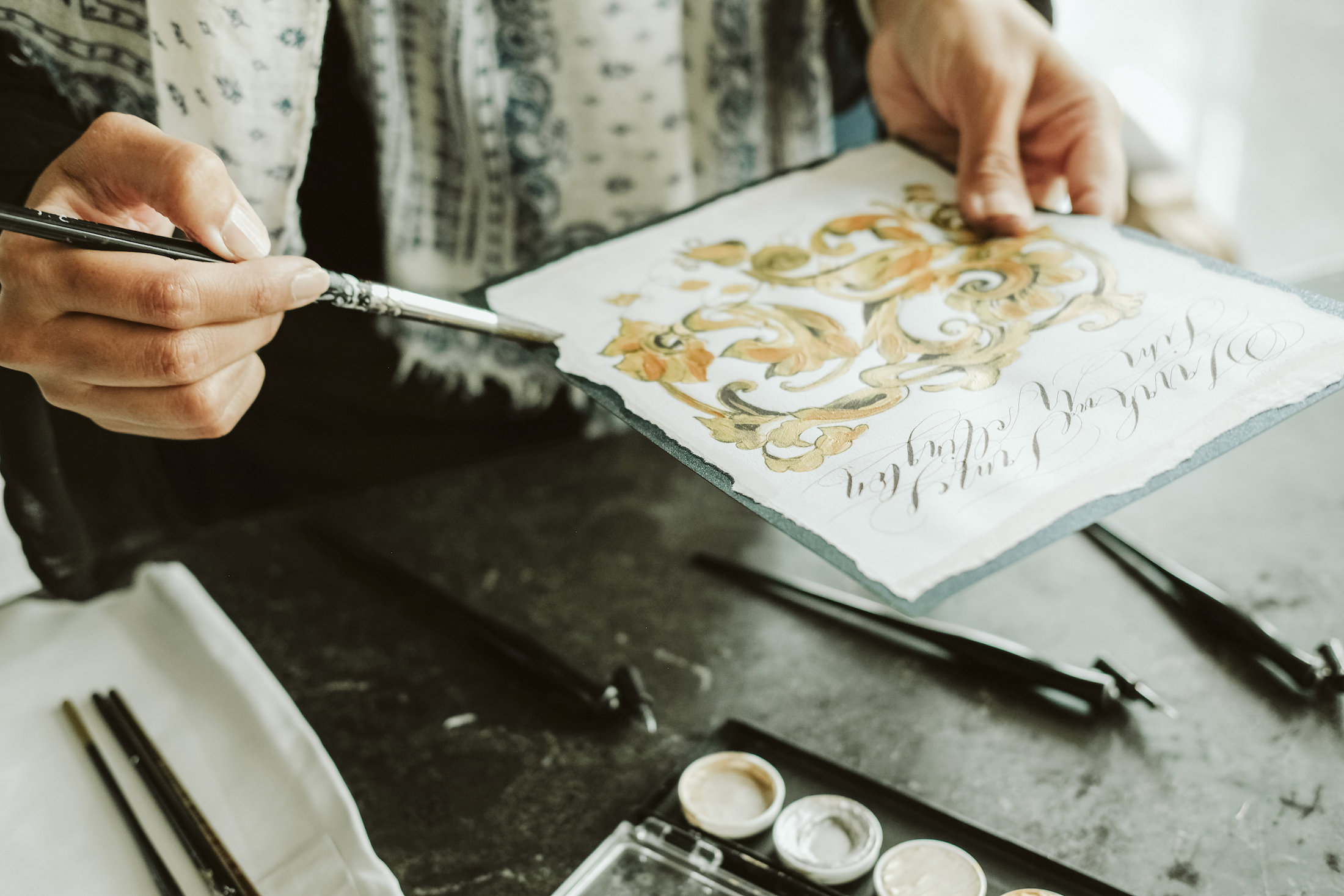 Custom Hand Painted Wedding Invitations - watercolour wedding invitations