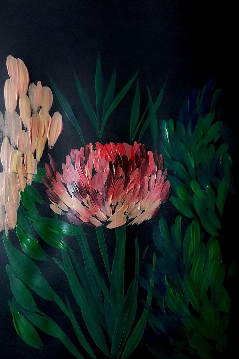Acrylic Paintings Illustrator inspired by Burne Jones full painting
