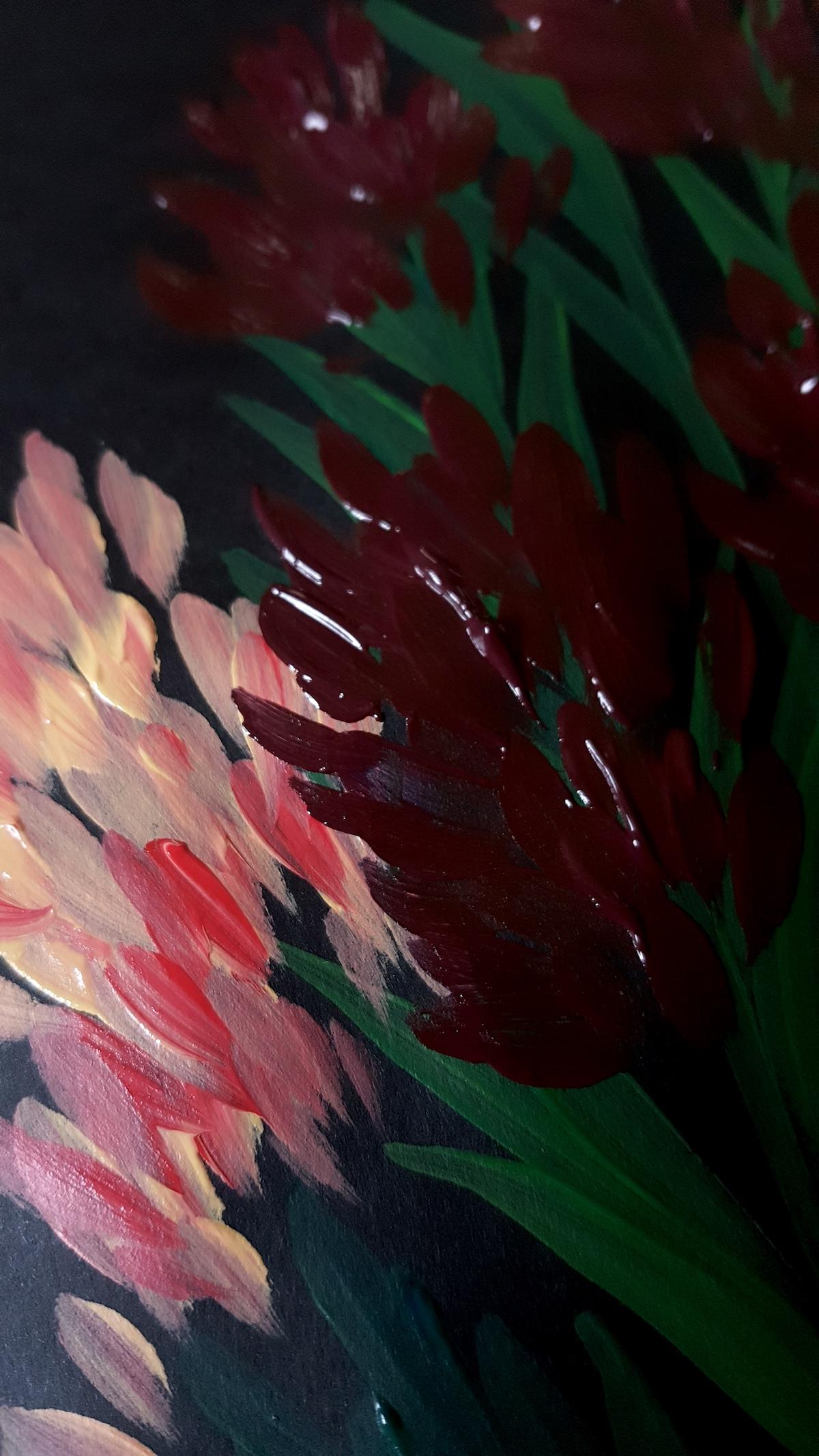 Acrylic Paintings Illustrator inspired by Burne Jones