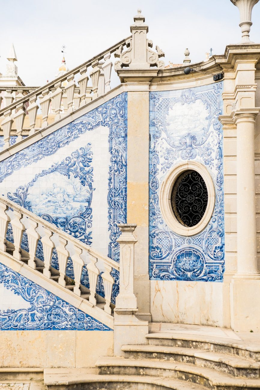 Palace Wedding Inspiration blue tiles