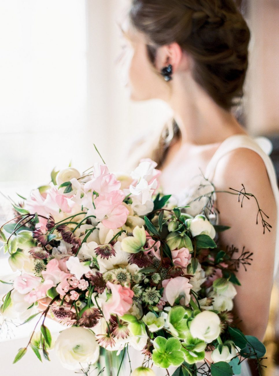 Palace Wedding Inspiration bridal bouquet close up