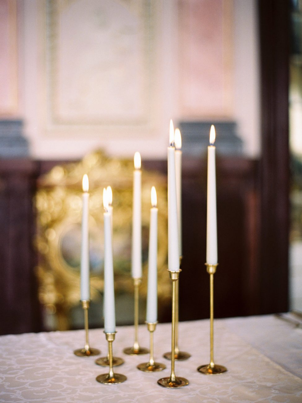 Palace Wedding Inspiration - candles