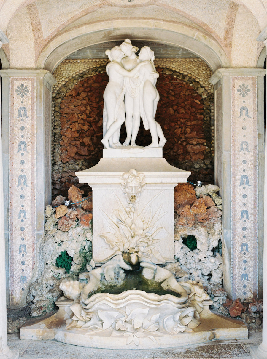 Palace Wedding Inspiration fountain