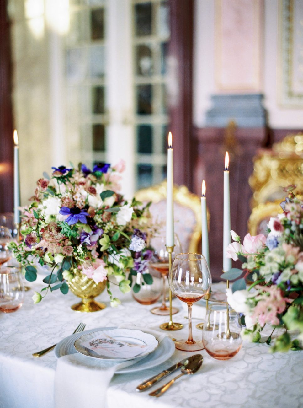 Palace Wedding Inspiration - luxury place names on table setting
