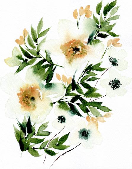 Bespoke watercolour wedding invitations artwork