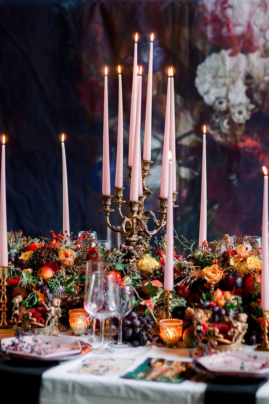 Baroque wedding inspiration with a lavish table setting perfect for a California wedding