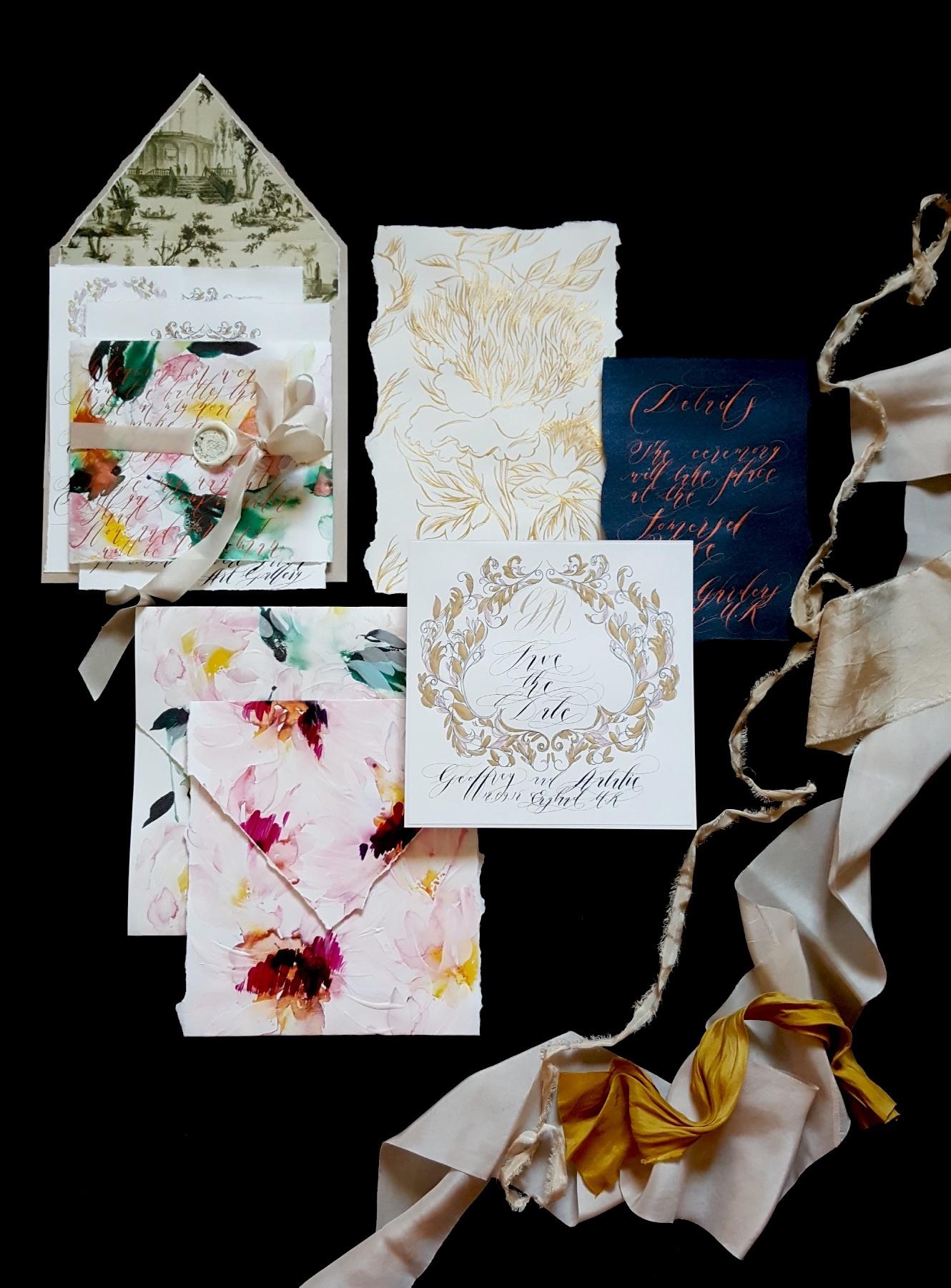 Iphone photo of wedding stationery