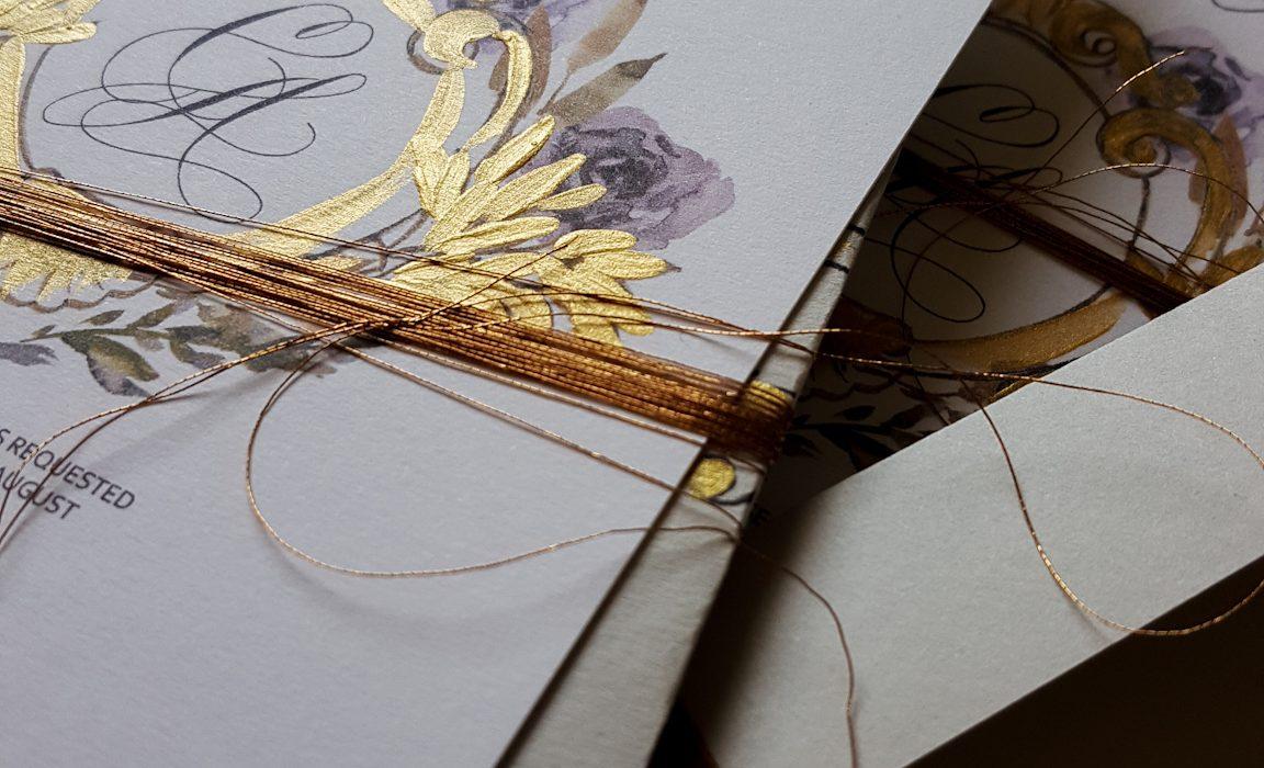 Bespoke illustrated wedding invitations with rsvp design