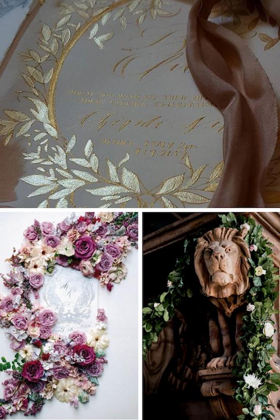 Bespoke wedding stationery inspiration mood board