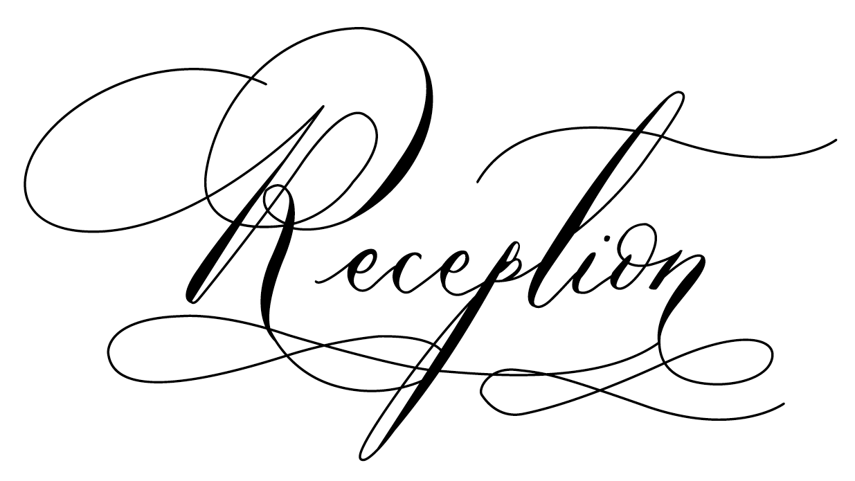 Calligraphy words that are digitalised