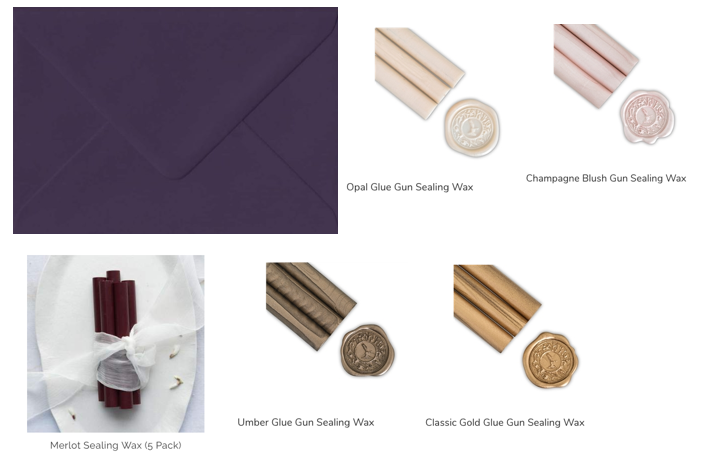 Envelope and wax colours