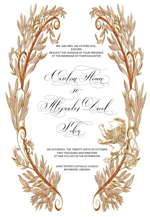 Final Bespoke Illustrated Wedding Invitation Card Design