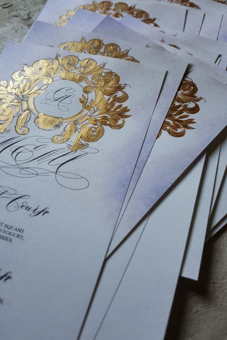 Gold crest design menu