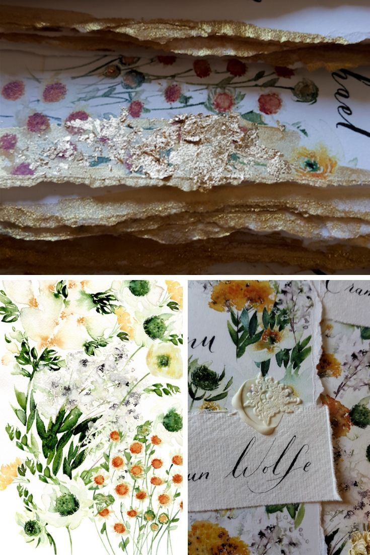 In this blogpost I share my design process with you for how I create watercolour illustrations for wedding invites and weave them through your stationery.