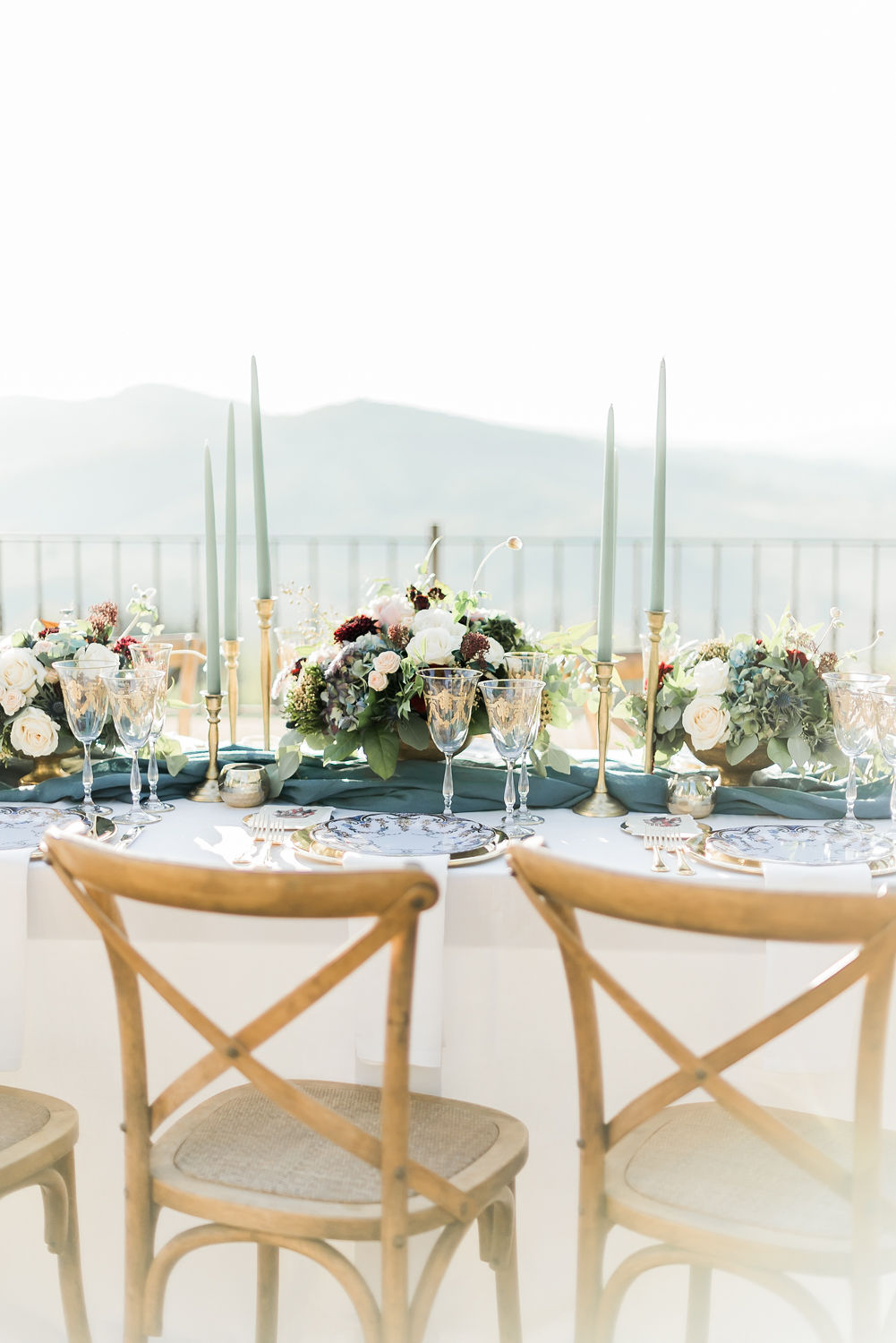 Italy style wedding table setting ideas