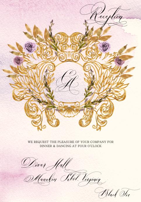 Reception Card design 1