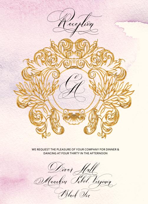 Reception Card design 2