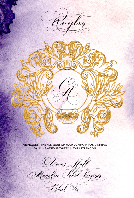 Reception Card design 3