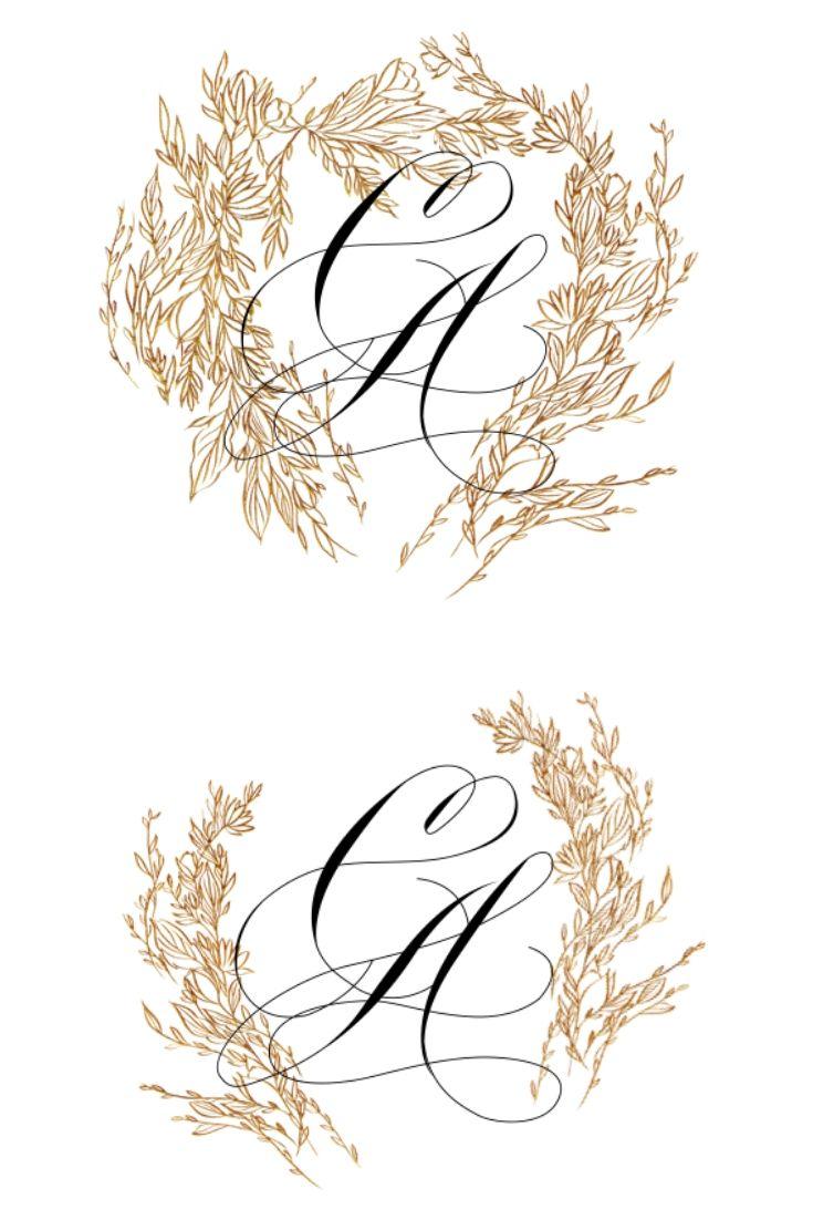 Wax seal design for custom wedding invitation work