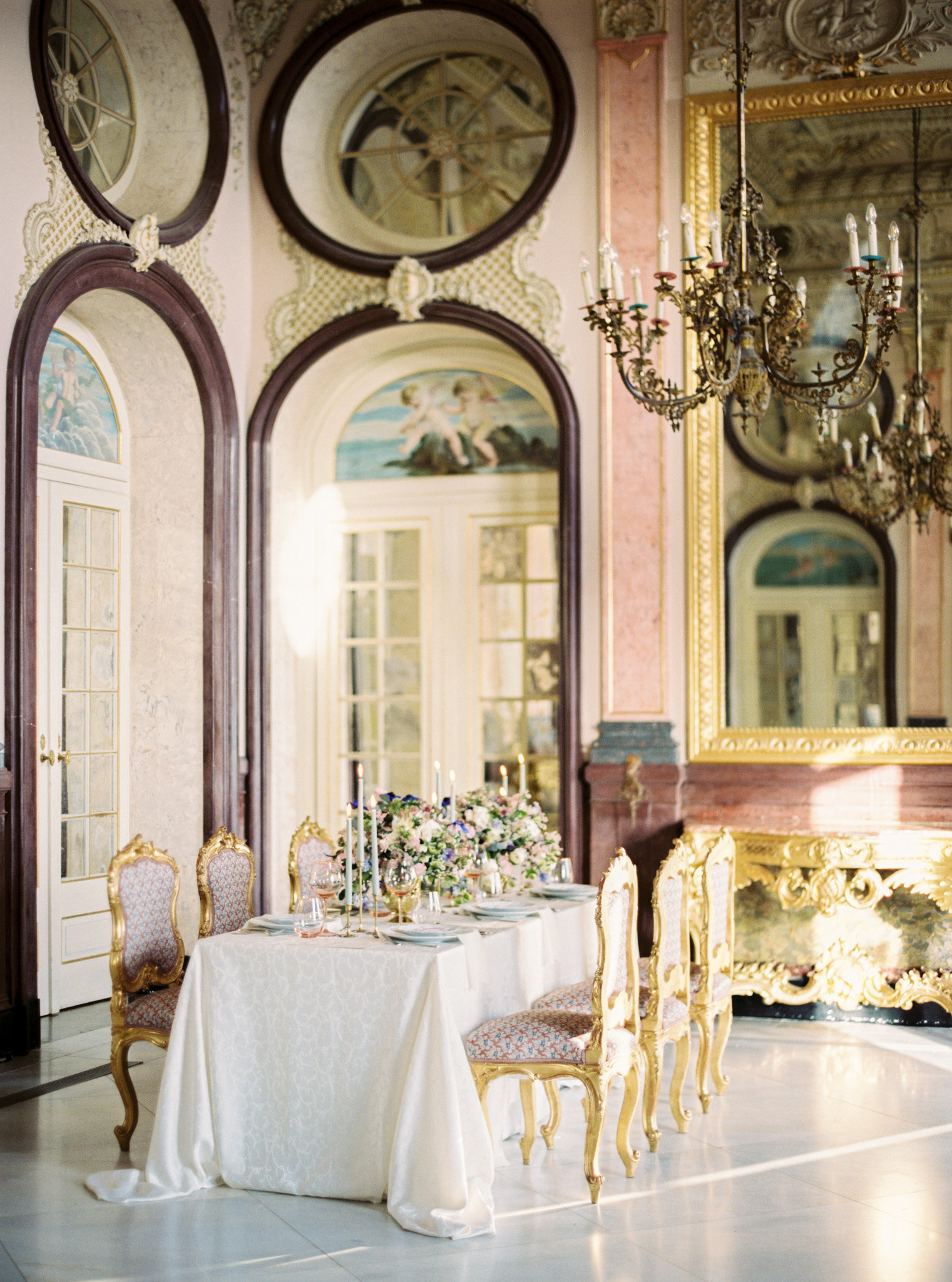 Destination wedding venue in Portugal, Estoi Palace in the south of Portugal which is perfect for a small luxury wedding